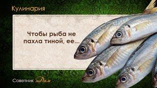 Совет13 - Чтобы рыба не пахла тиной, ее