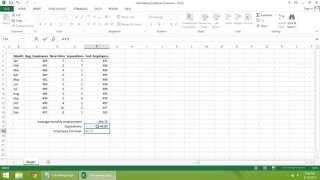 Excel  2013 Tutorial - How to Calculate Employee Turnover