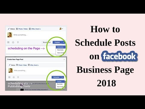How to schedule posts on facebook business page 2018