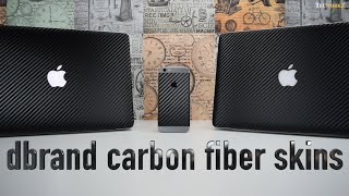 dbrand carbon fiber skins for iPhone 6 and Macbook Pro