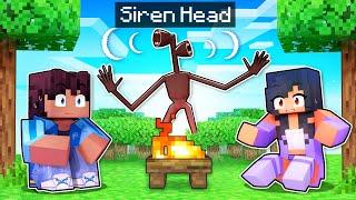 4 NIGHTS With SIREN HEAD In Minecraft!