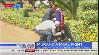 Murang'a ward representatives are nursing injuries after goons attacked them while in a meeting