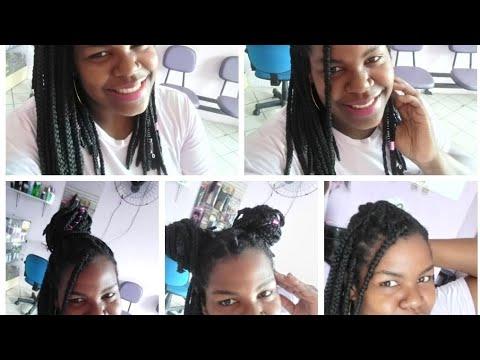 Penteados fáceis com box braids curtas( Chanel)