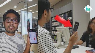 Probando Samsung Pay en tienda de Apple (TERMINA MAL)