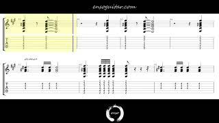Alt-J - Left Hand Free {Guitar Tab Play Along}