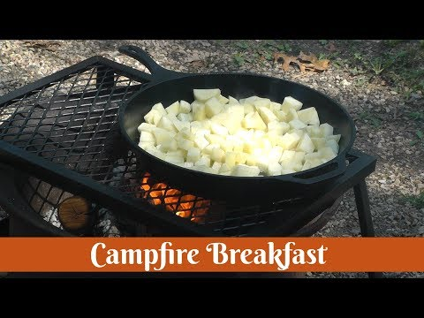 Cast Iron Campfire Breakfast ~ Best Camping Recipe ~ Camp Cooking ~ Amy Learns to Cook