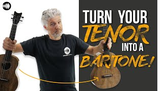 Can you Turn Your Tenor Ukulele Into a Baritone?? FIND OUT!!