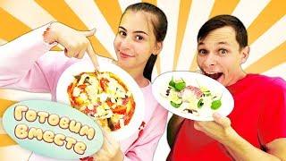 Пицца челлендж - Вика и Федор готовят - Смешные видео для детей
