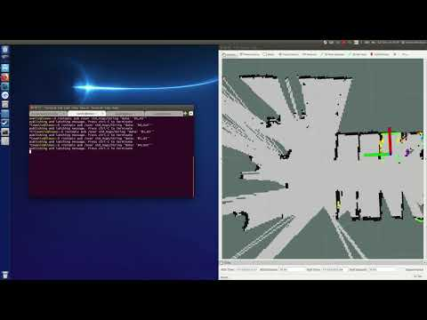 ROS test(raspicam + gmapping) with raspberry pi 3 B+