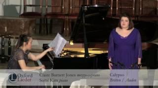 Oxford Lieder Young Artist Platform Auditions 2017: Claire Barnett Jones & Somi Kim - Calypso