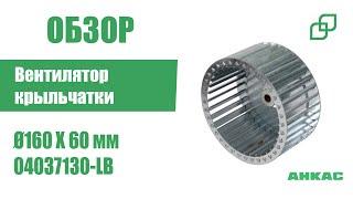 Вентилятор (крыльчатка/лопастное колесо) Ø160 X 60 мм арт. 04037130-LB