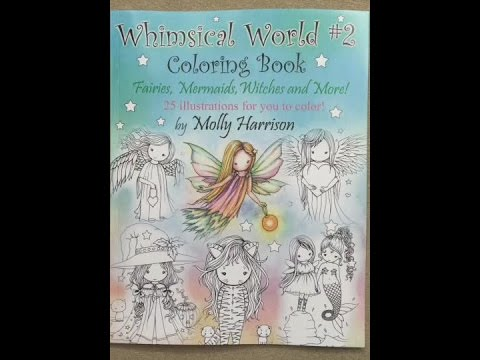 Whimsical World 2 Coloring Book Fairies Mermaids Witches Angels And More Flip Through Play