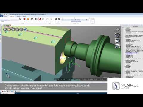 NCSIMUL Machine | Features | CNC machine simulation