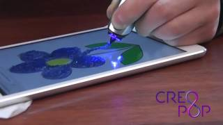 3D ручка Creopop   рисуем цветок на планшете