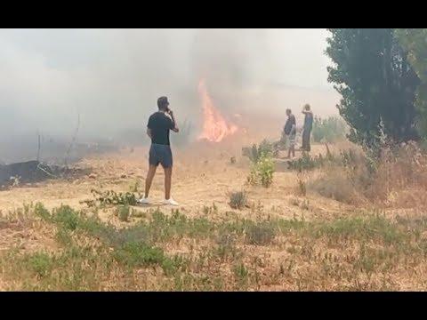 Incendio en Palau-solità i Plegamans (Barcelona)