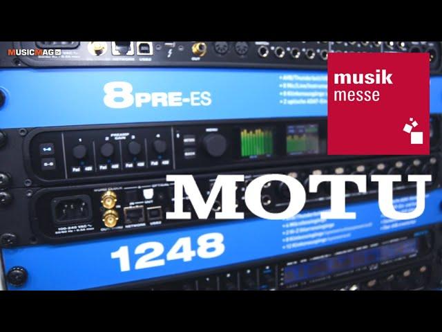 MOTU 8pre-es: рэковый usb/thunderbolt-аудиоинтерфейс (Musikmesse 2019)