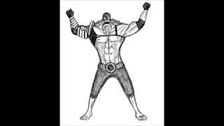 Рисую Бёрджесса  из One Piece