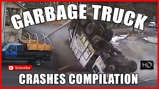 Garbage Truck Crashes - Compilation - over 13 minutes