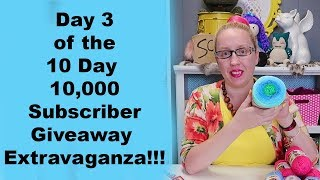 Day 3 of the 10 Day 10,000 Subscriber Giveraway Extravaganza!!!