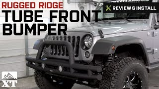 Jeep Wrangler Rugged Ridge Tube Front Bumper (2007-2016 JK) Review & Install