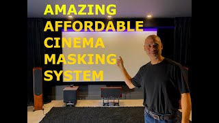 AMAZING and Affordable DIY Home Theatre Cinema Projector Screen Masking System