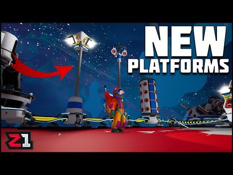 Summer UPDATE ! Part 2 New Platforms and Flood Lights! Astroneer Update Gameplay | Z1 Gaming