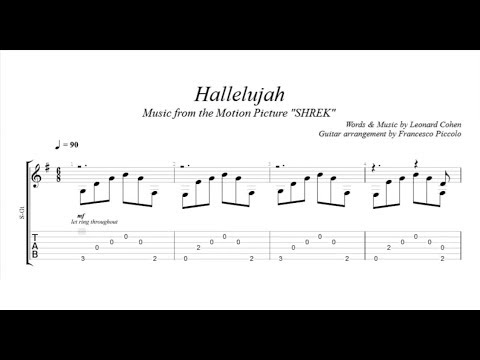 Fingerstyle Guitar TAB -  Hallelujah (Music from the Motion Picture