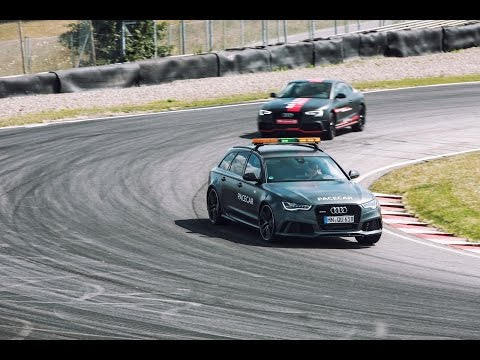 Audi RS5 TDI concept vs. Audi RS6 - Sturup Raceway