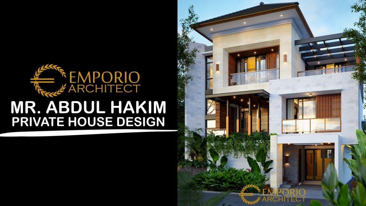 Video 3D Desain Rumah Modern 3 Lantai Bapak Abdul Hakim di Jakarta