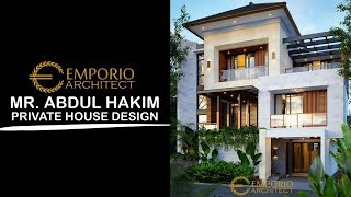 Video Mr. Abdul Hakim Modern House 3 Floors Design - Jakarta