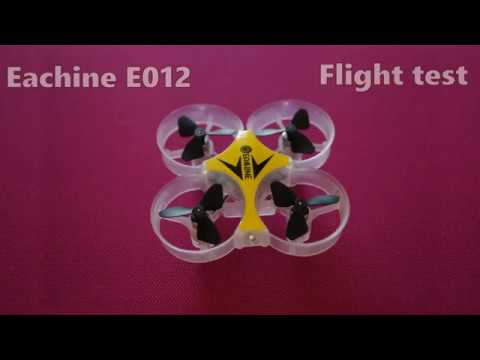 Eachine E012 mini quadcopter flight test