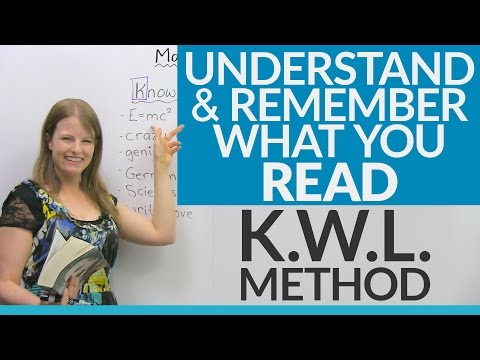 Read, Understand, and Remember! Improve your reading skills with the KWL Method
