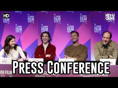 Call Me By Your Name Press Conference | Armie Hammer | Timothée Chalamet - LFF17