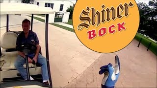 Riding at the Shiner Brewery