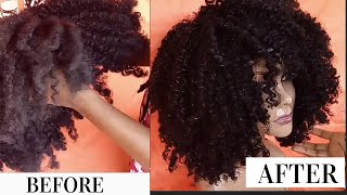 HOW TO WASH DRY & MATTED CURLY SYNTHETIC WIG: