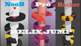 Main Helix Jump Player Noob vS Pro Vs Hacker