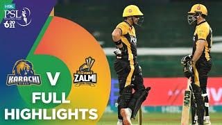 Full Highlights | Karachi Kings vs Peshawar Zalmi | Match 24 | HBL PSL 6 | MG2T