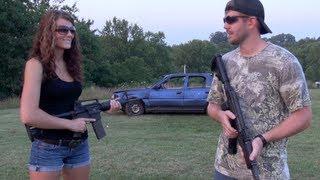 AK47 Vs AR15  CAR DOOR PENETRATION