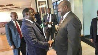 Raila Odinga brokers truce,following a deal between Salva Kiir and rebel leader Riek Machar