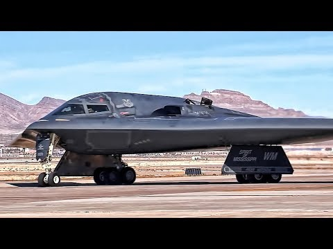 B-2 Bomber Flight Operations At Nellis AFB (2018)