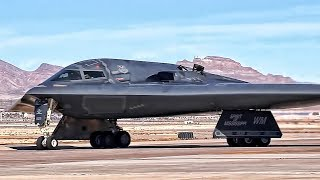 B-2 Bomber Flight Operations At Nellis AFB