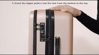 CALPAK Double TSA Key Lock Instructions