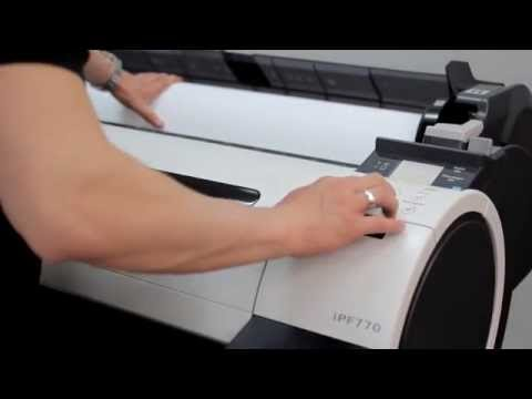 How to install plotter Canon imagePrograf iPF670 & iPF770