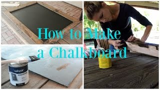 HOW TO MAKE A CHALKBOARD THATS MAGNETIC | DIY HOME PROJECT