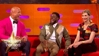 Dwayne Johnson & Kevin Hart Lose It Over Jodie Whittaker's Accent   The Graham Norton Show