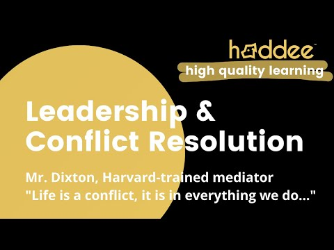 Leadership & Conflict Resolution Class Introduction