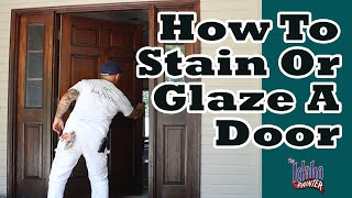 REFINISHING A FRONT DOOR  lacquering a door. how to refinish an old door.