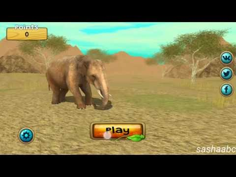 wild elephant sim 3D обзор игры андроид game rewiew android.