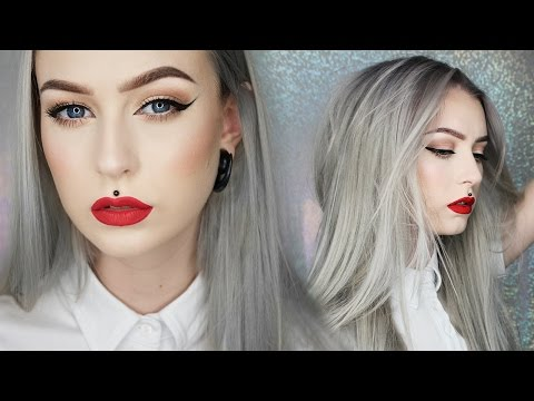 Classic Cat Eye & Red Lip | NEW HAIR || Evelina Forsell