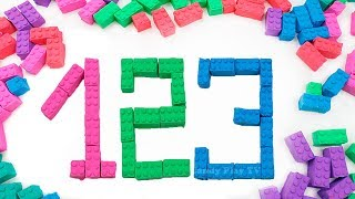 Learn Colors with Kinetic Sand Mad Mattr |Learn Numbers from 1 to 10 |Make Numbers Lego Kinetic Sand
